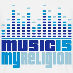 Music Is My Religion Men's T-shirts - Miesten t-paita
