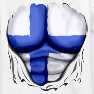 Finland Flag Rippede Muskler - Teenager-T-shirt