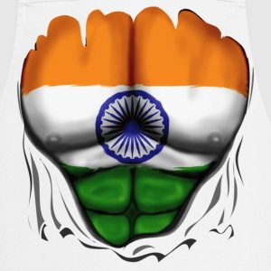 India Flag Ripped Muscles, six pack, chest t-shirt - Cooking Apron