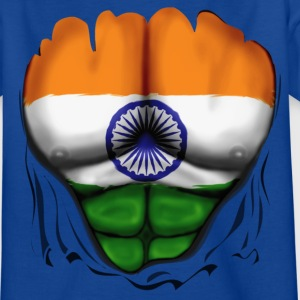 Indien Flag Rippede Muskler - Teenager-T-shirt
