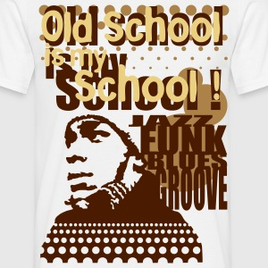 Old school is my school marron - T-shirt Homme