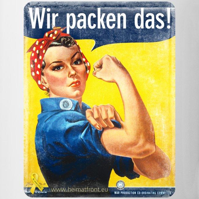 Tasse: Wir packen das! Motiv We can Do it!