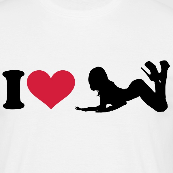 I - love - heart - hearts - Men's T-Shirt