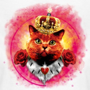 Red Roses Cat the Queen  in Glow - rote Katze mit Krone Frauen Shirt - Frauen T-Shirt