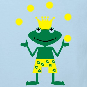 Frog, amphibian, toad, king, prince, kiss, fairytale, summer, water, swimming, swimming trunks, enchanted, transformed, hop, cool, sunglasses, glasses porno, ball juggling, artist Kinder T-Shirts - Kinder Bio-T-Shirt