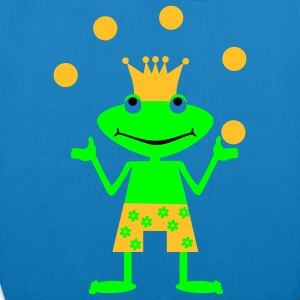 Frog King juggles Bags  - EarthPositive Tote Bag
