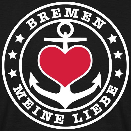 Bremen meine Liebe - Herz auf Anker 2c