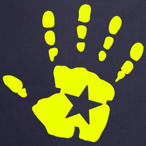 star hand handprint  Aprons - Cooking Apron