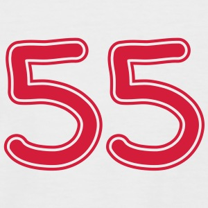 number_fiftyfive_1c T-Shirts - Men's Baseball T-Shirt