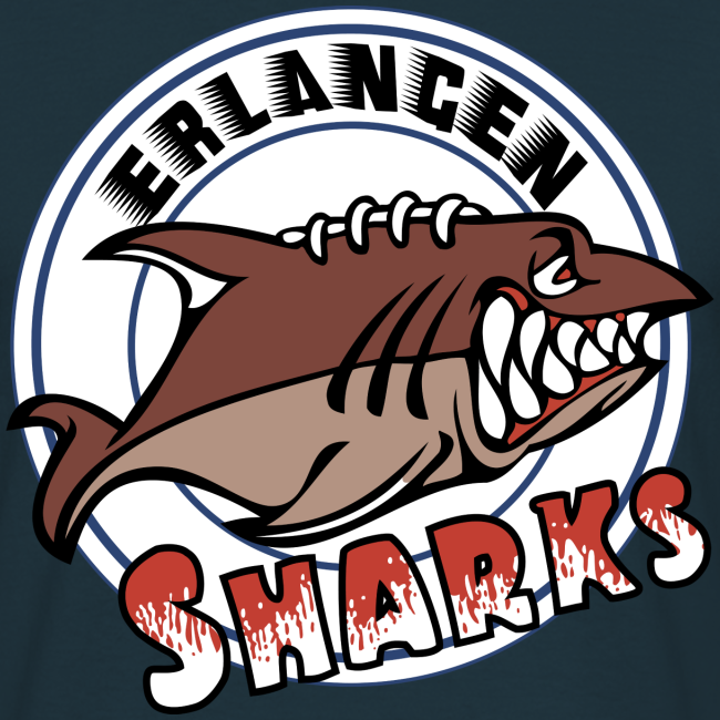 Erlangen Sharks Color T-Shirt (m, navy)