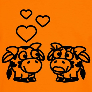 smiley_cows_in_love_1c T-Shirts - Männer Kontrast-T-Shirt