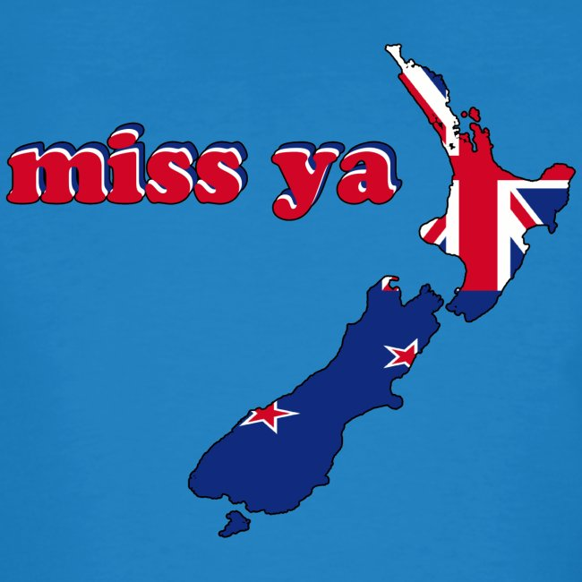 New Zealand Map Flag Inside Miss Ya Earth Positive T-Shirt