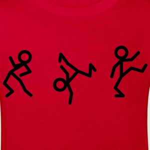 Dancing stick figure Kids' Shirts - Kids' Organic T-shirt