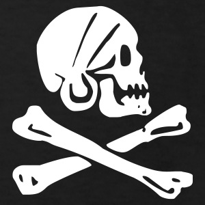 skull - pirate - pirates - bone - pirates of the caribbean - Kids' Organic T-shirt