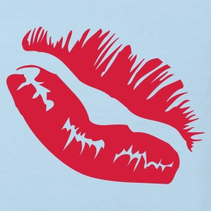 kiss - lips - mouth - mouth kiss - love - Kids' Organic T-shirt