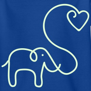 ELEFANT MIT HERZ | Kindershirt - Teenager T-Shirt