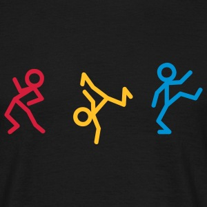 Dancing stick figure T-shirts - Mannen T-shirt