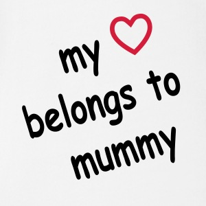 my_heart_belongs_to_mummy Baby Body - Baby Bio-Kurzarm-Body