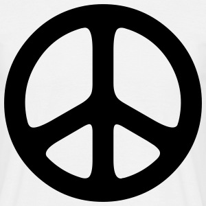 peace sign hippie T-shirts - Herre-T-shirt