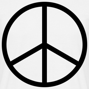 peace sign hippie T-Shirts - Men's T-Shirt
