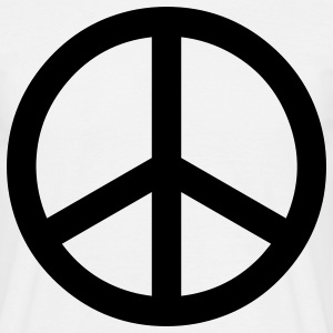 peace sign hippie T-shirts - T-shirt Homme