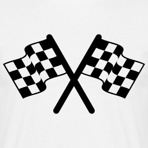 racing flags sport T-Shirts - Männer T-Shirt