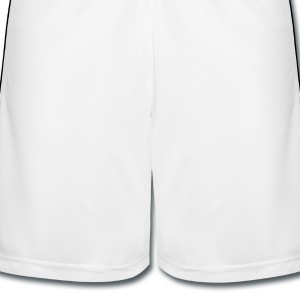 White  T-Shirts - Men's Football shorts