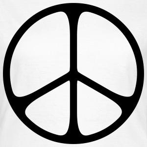 peace sign hippie T-shirts - Vrouwen T-shirt