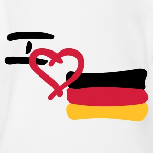 i love germany Baby Body - Baby Bio-Kurzarm-Body