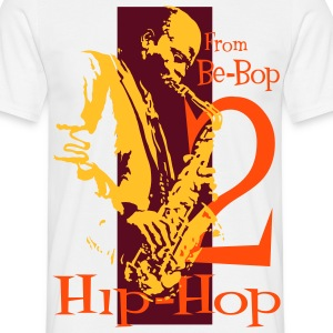 Be bop to hip hop orange - T-shirt Homme