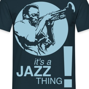 Jazz thing ! bleu - T-shirt Homme