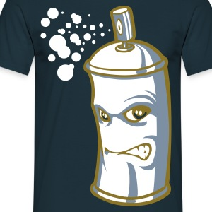 Spray or/argent - T-shirt Homme