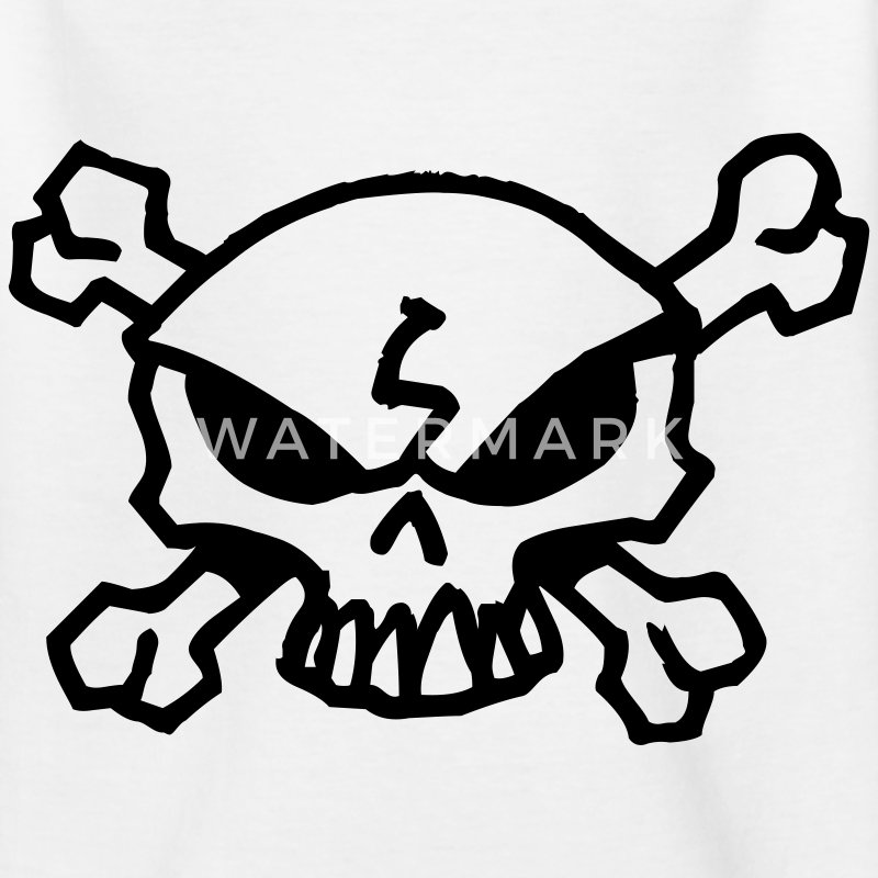 cartoon skull Barneskjorter - T-skjorte for tenåringer