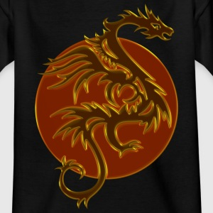Golden Dragon Sun | Kindershirt - Teenager T-Shirt