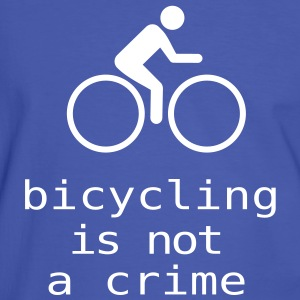 bicycling is not a crime - Männer Kontrast-T-Shirt