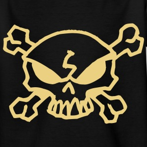 cartoon skull Camisetas niños - Camiseta adolescente