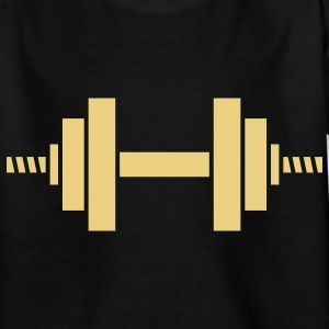 dumbell sport gym Kinder shirts - Teenager T-shirt