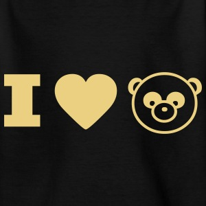 panda animal I love Camisetas niños - Camiseta adolescente
