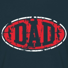 DAD Vintage Design T-Shirt 2C Red-White NVY