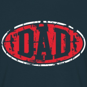 DAD Vintage Design T-Shirt 2C Red-White NVY - Men's T-Shirt