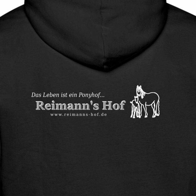 Herren Kapuzenpulli Reimann's Hof -Stute mit Fohlen klein-