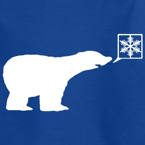 Polar Bear, calls for ice, snow flake global warming. Kids' Shirts - Teenage T-shirt