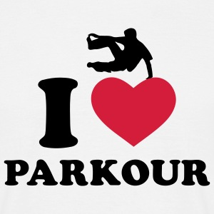 I Love Parkour / Freerunning t-shirt - Men's T-Shirt