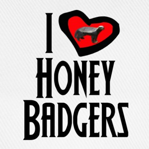 I Love Honey Badgers Caps & Hats - Baseball Cap