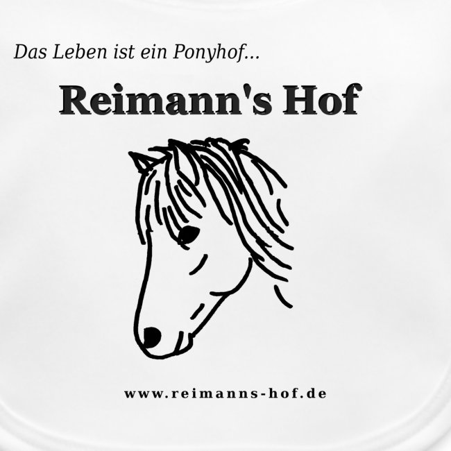 Baby Lätzchen Reimann's Hof -Ponykopf-