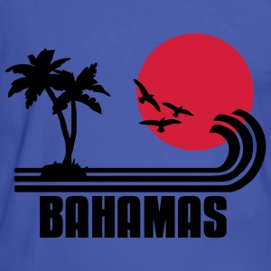 Bahamas, palm trees, sun beach retro design, wanderlust. T-Shirts - Men's Ringer Shirt