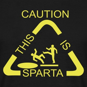 Caution! This is SPARTA! - Männer T-Shirt