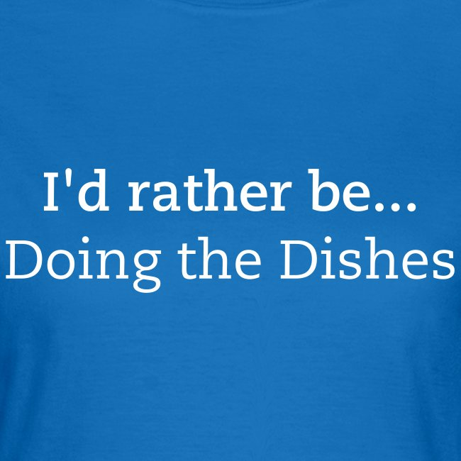 IRB Doing the Dishes