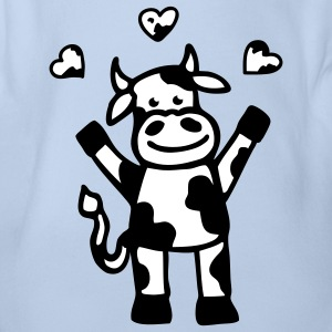 The cow is in love Baby Bodysuits - Organic Short-sleeved Baby Bodysuit