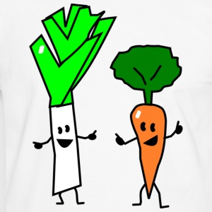 vegetable couple one T-shirt - Maglietta Contrast da uomo